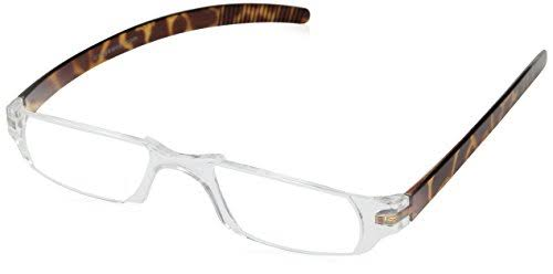 Dr Dean Edell Slim Vision Reading Glasses - Tortoise, Plus 1.50