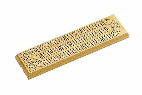 CHH Natural Wood Cribbage Board Game - 2 Track