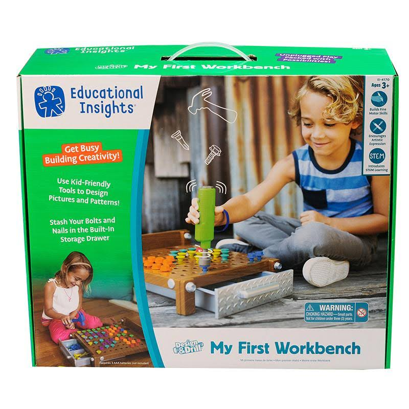 Educational Insights Design Wood And Drill My First Workbench Toy Set