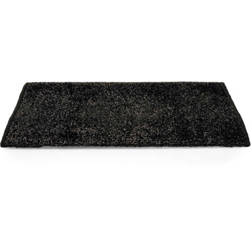 "Camco 42942 Black Premium Wrap Around RV Step Rug Turf Material 22"" x 23"""