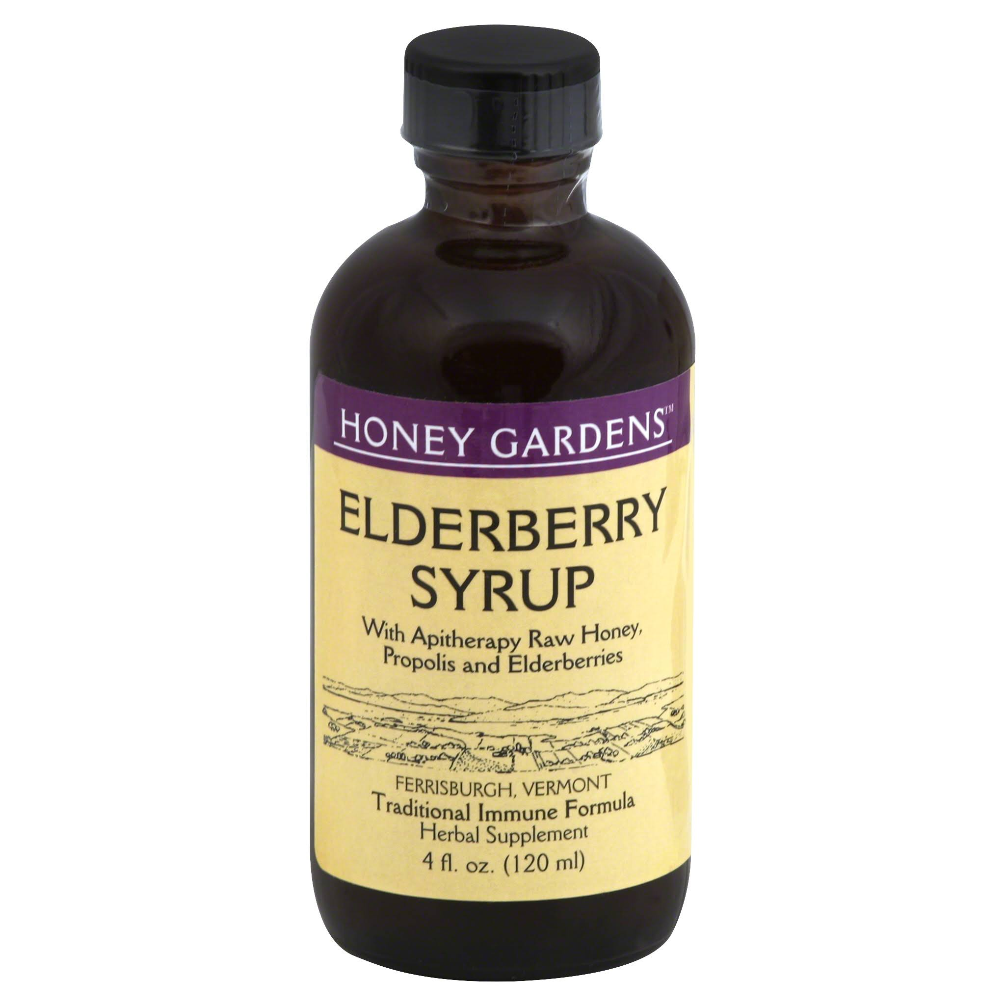 Honey Gardens Elderberry Syrup Supplement - 4oz