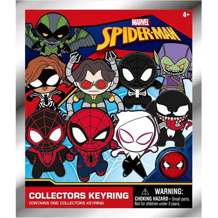 Marvel Spider-Man Blind Bag Foam Figure Keyring, One Random