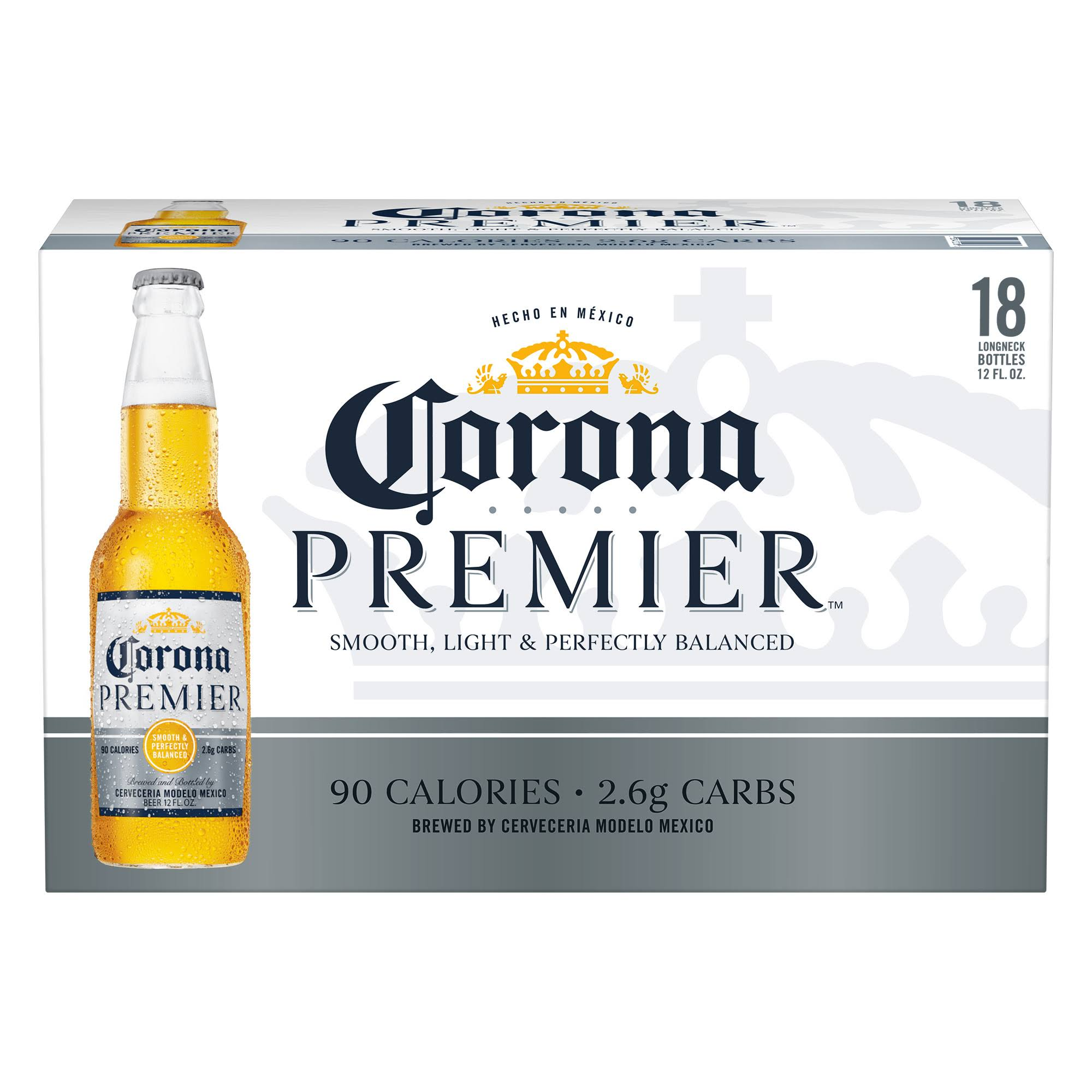 Corona Premier Mexican Import Beer Bottles - 12 fl oz
