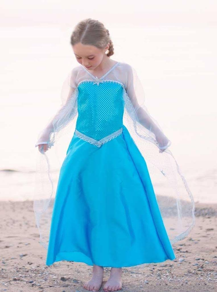 Creative Education Girl's Ice Crystal Queen Costume - Blue, Medium