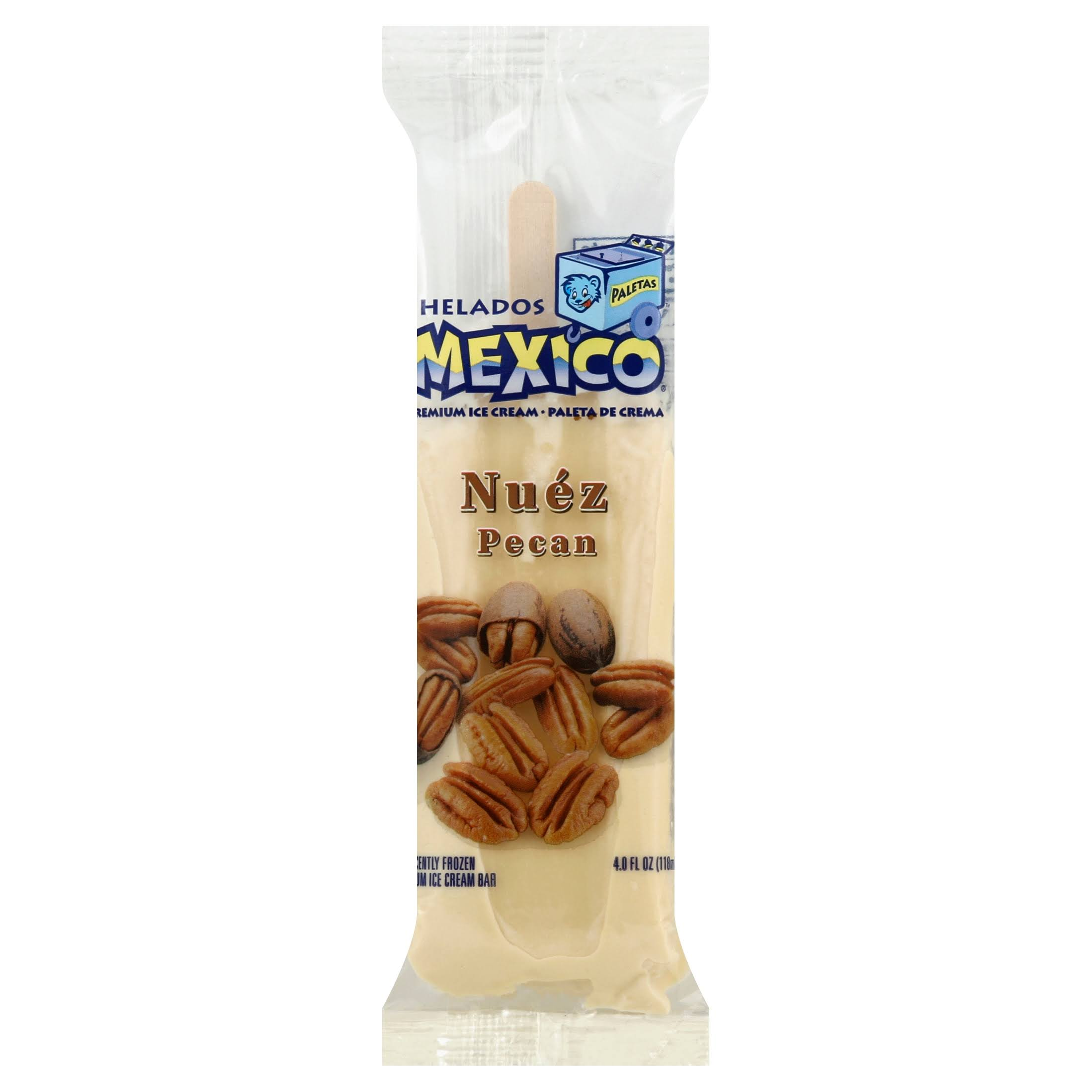 Helados Mexico Pecan Premium Ice Cream Bar - 4oz