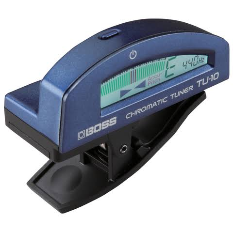 Roland Boss TU-10 Clip-On Chromatic Tuner - Blue