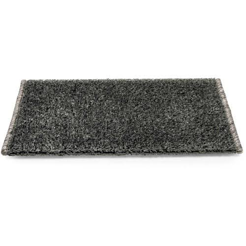 Camco 42918 Premium Wrap Around RV Step Rug, Turf Material (17.5 inch x 18 inch), Gray