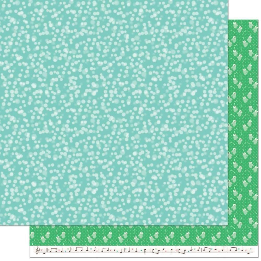 Lawn Fawn Snow Day 12x12 Paper- Mittens
