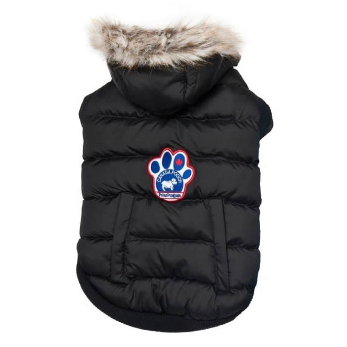 Canada Pooch North Pole Parka Dog Coat - Black, 18""