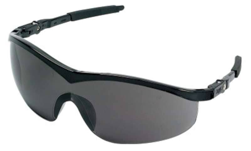 MCR Crews ST112 Storm Safety Glasses - Black Frame/Grey Lens