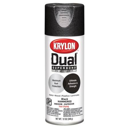 Krylon Dual Superbond Paint and Primer Hammered Spray Paint - Black, 12oz