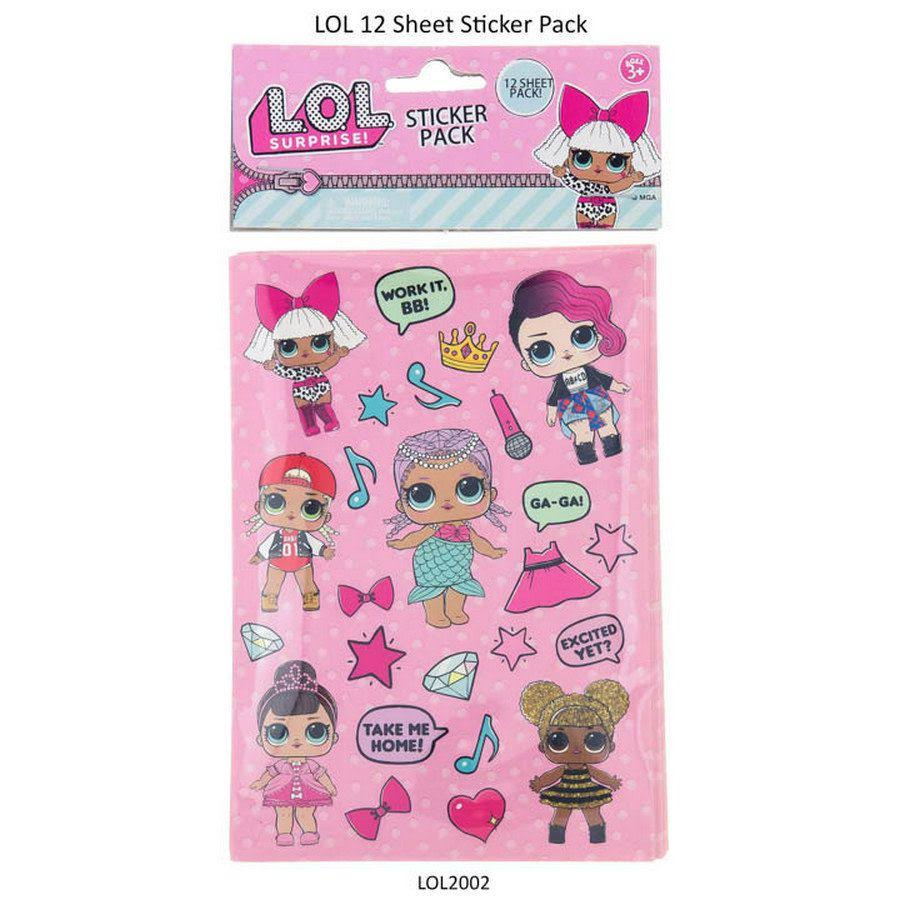 LOL Surprise Dolls Sticker - 12pk