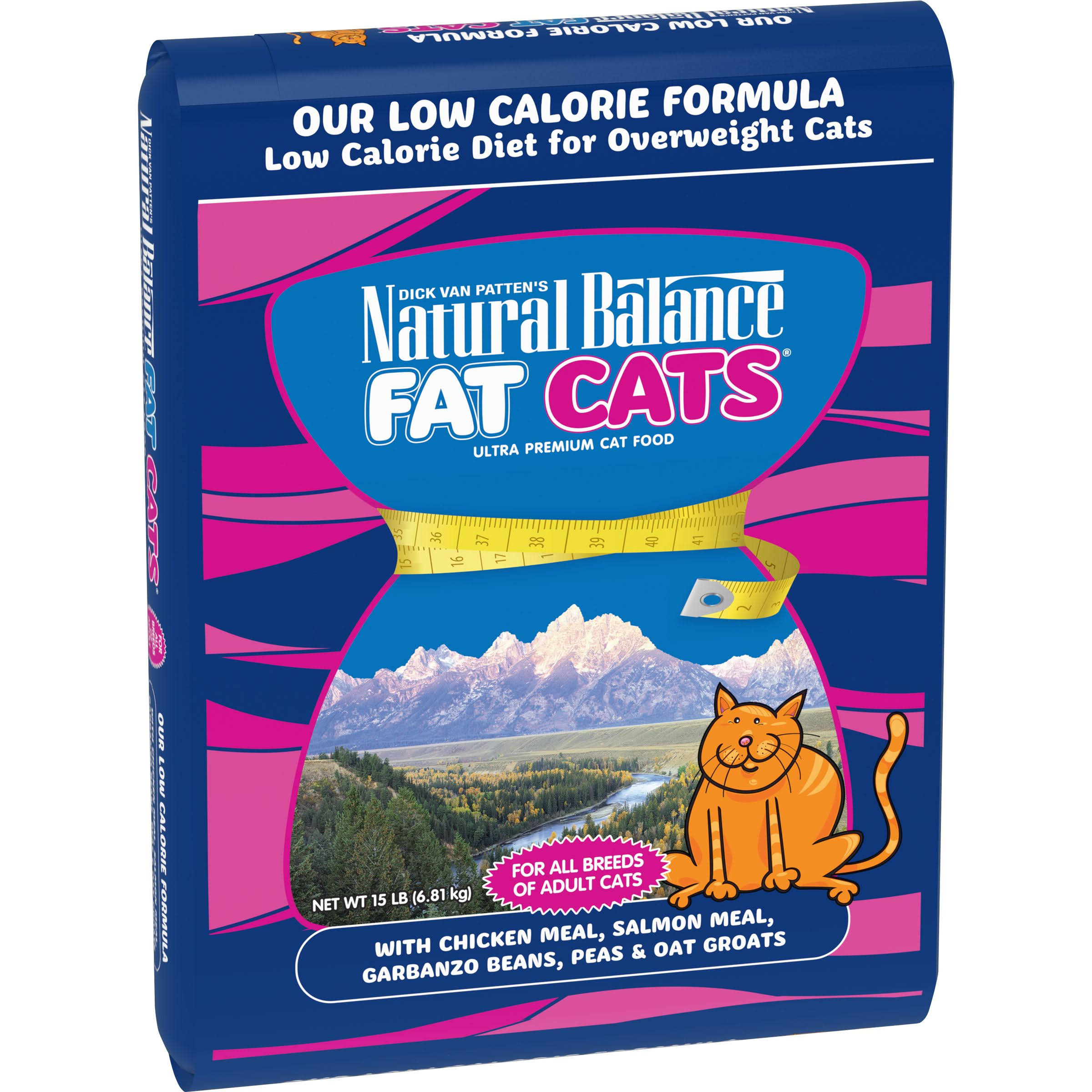 Natural Balance Fat Cats Low Calorie Dry Cat Food - Chicken & Salmon Formula, 15lb