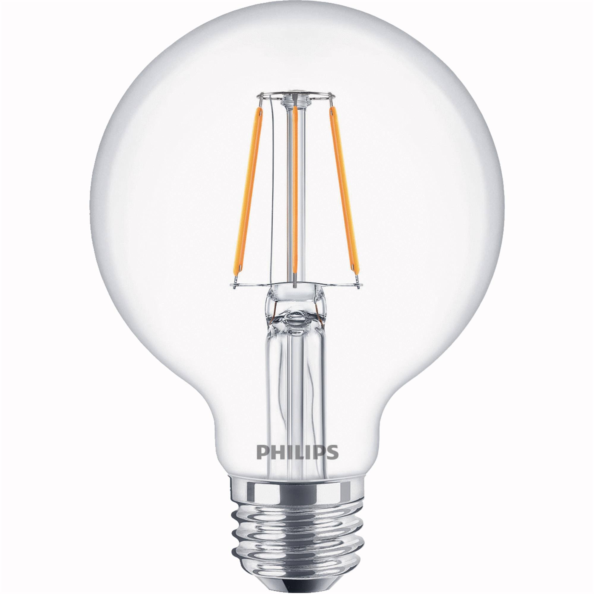 Philips Warm Glow All Glass G25 Medium Dimmable LED Decorative Globe Light Bulb 536950