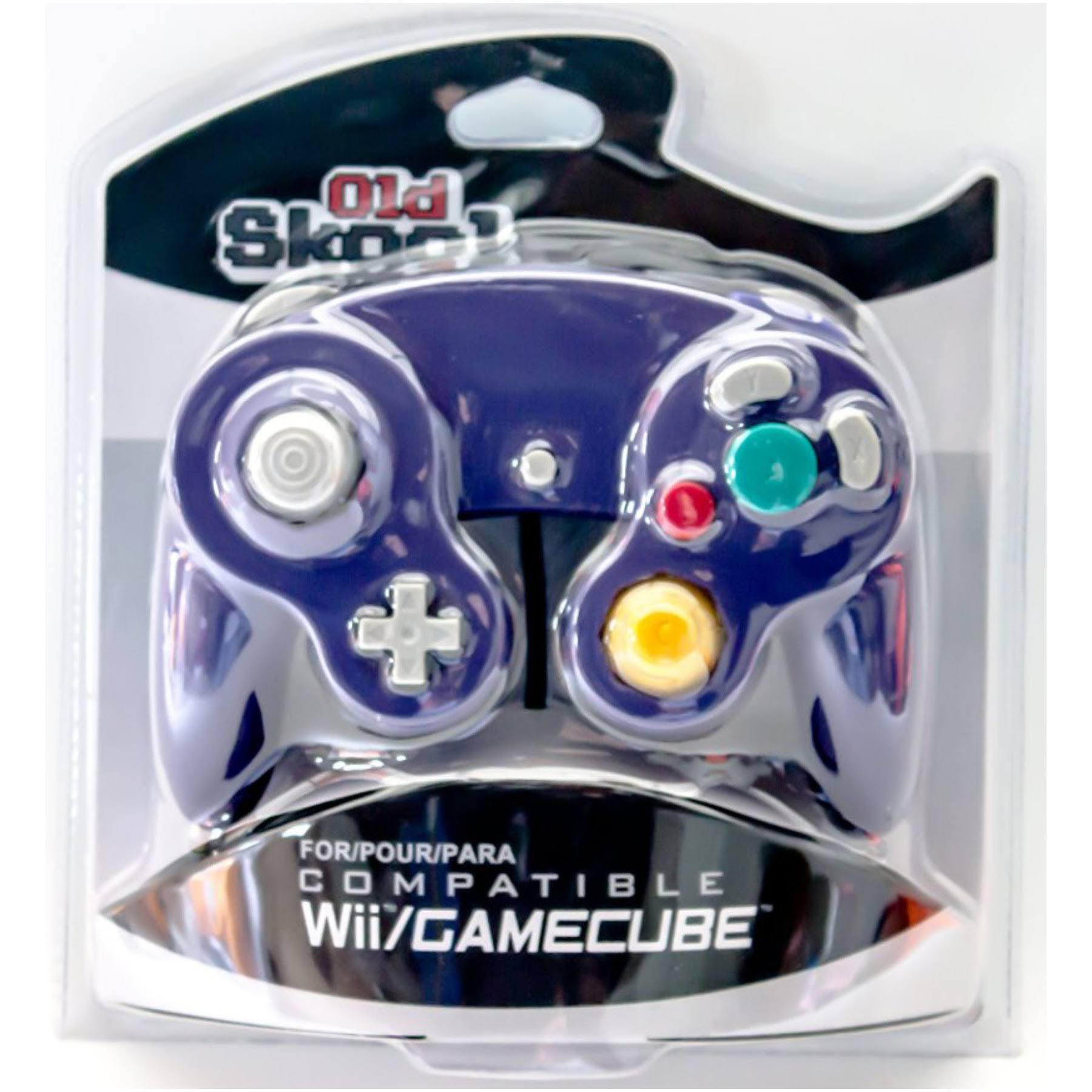 Old Skool Wii Compatible GameCube Controller - Purple