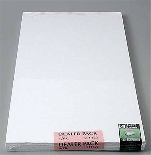 Woodland Scenics Foam Sheet 1/4 x1'x2' (4) ST1422