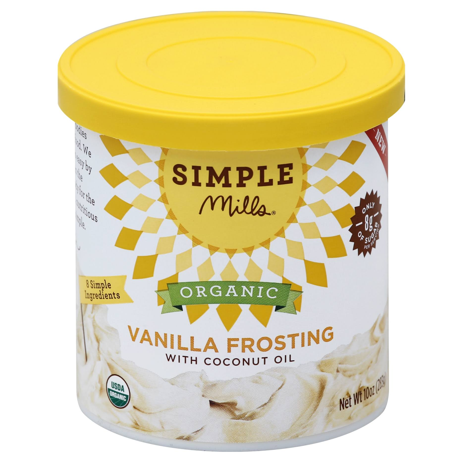 Simple Mills Organic Frosting - Vanilla, 10oz