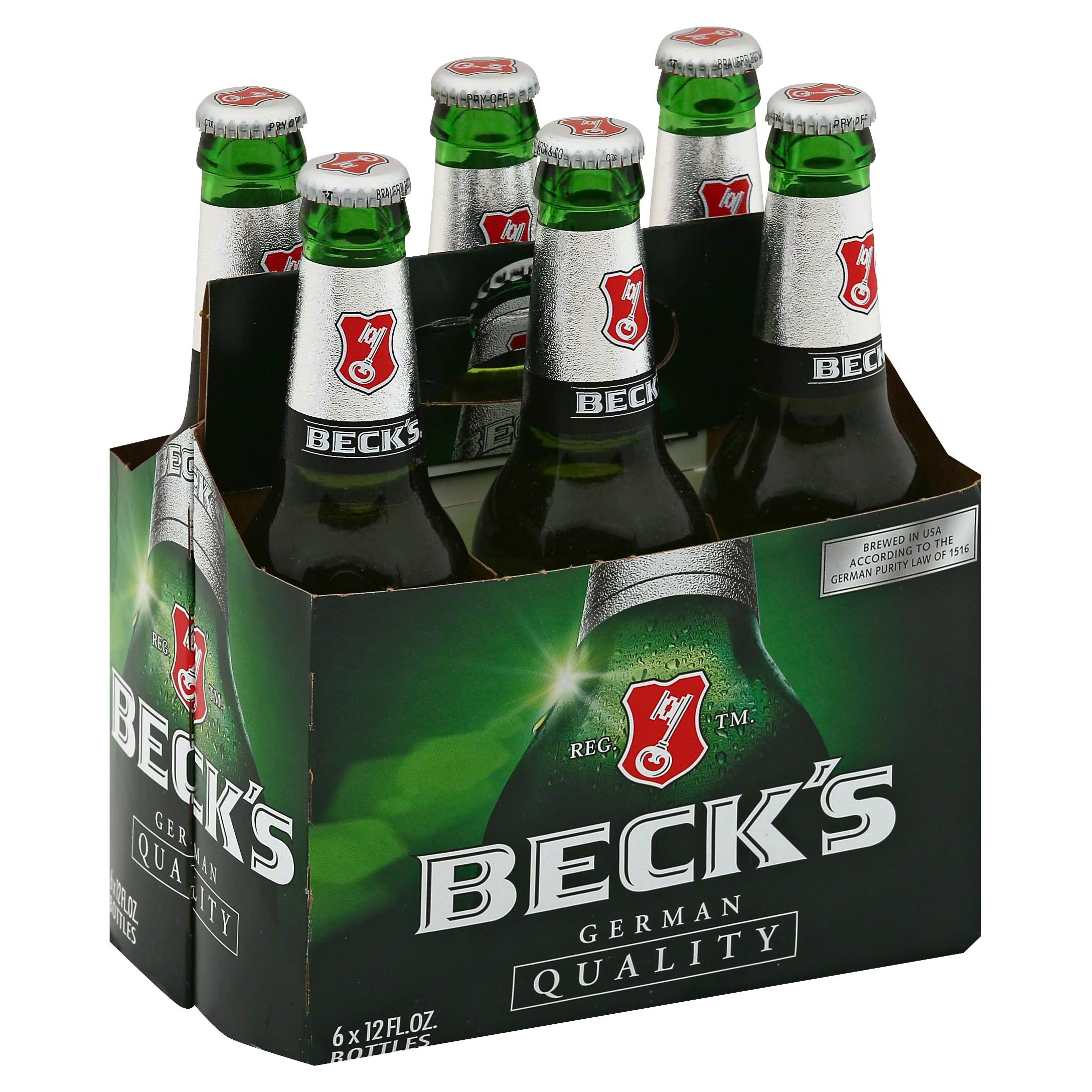 Beck's Beer - 6 Bottles