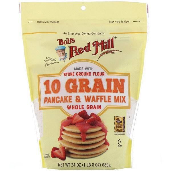 Bobs Red Mill Mix, Pancake & Waffle, Whole Grain - 24 oz