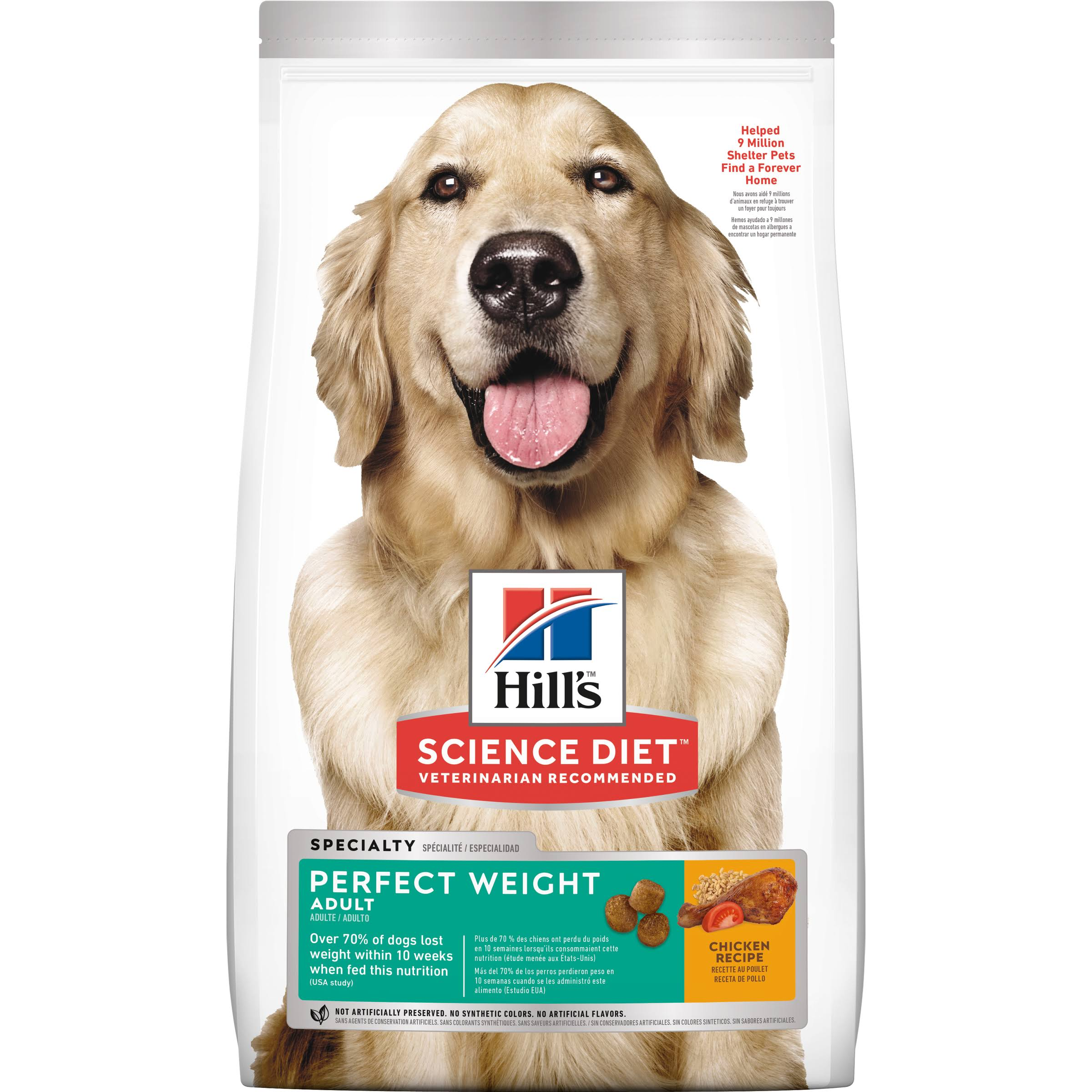 Hill's Science Diet Premium Natural Dog Food - Adult, Chicken Recipe, 4lb.bag