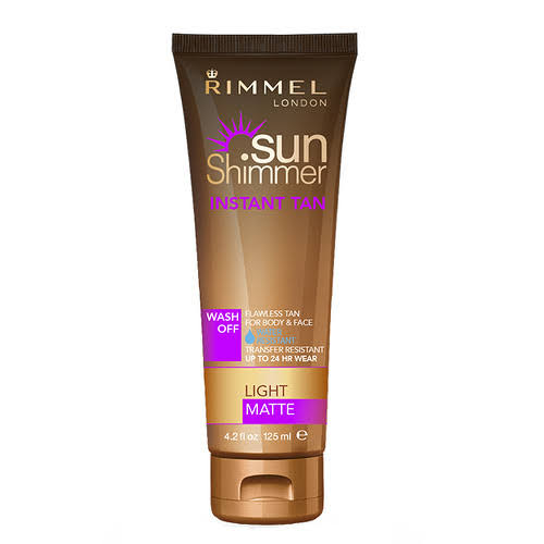 Rimmel Sunshimmer Water Resistant Instant Tan Lotion - Medium Matte, 125ml