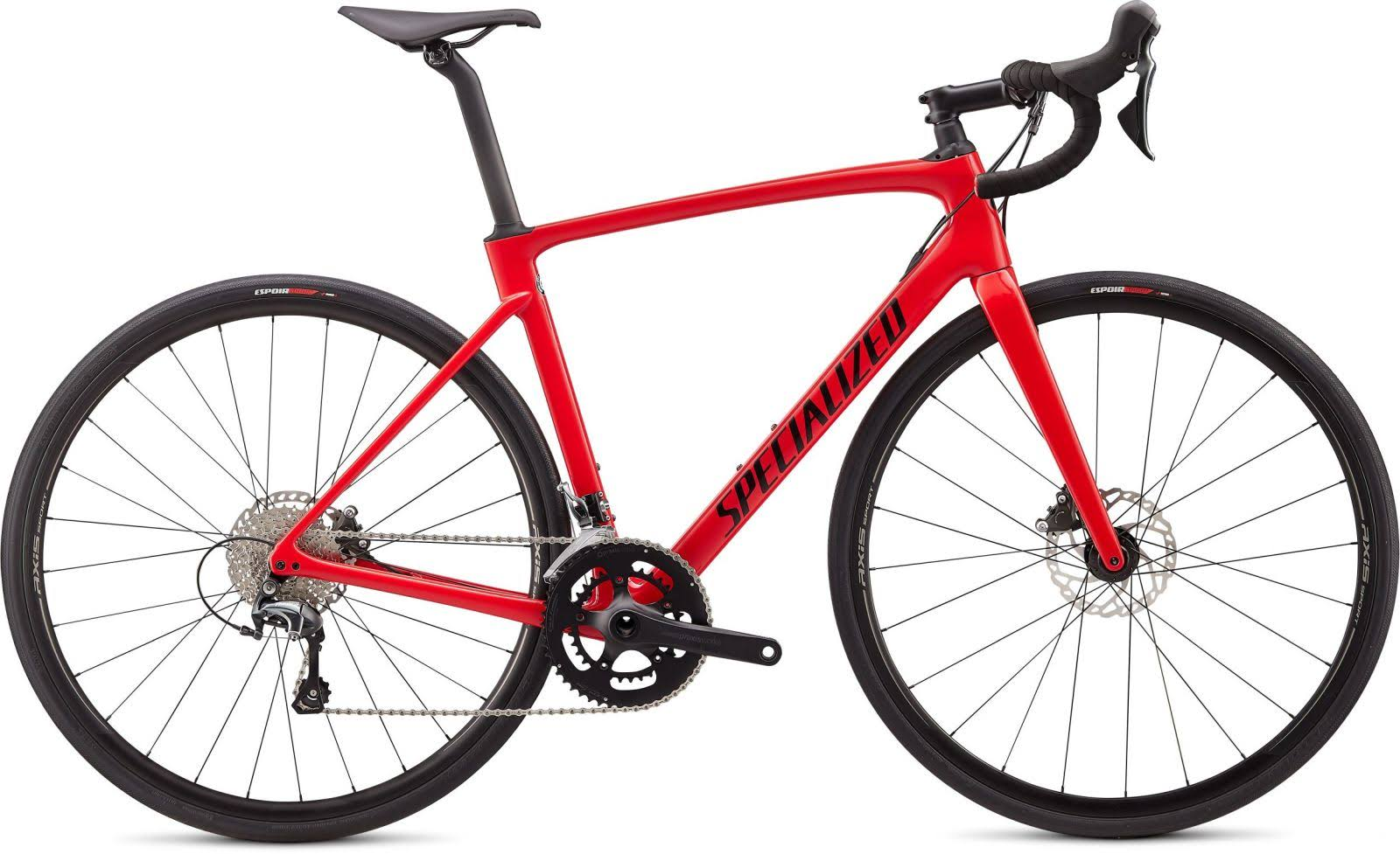 Specialized Roubaix Bicycle - Gloss Flo Red/Blue Ghost Pearl/Tarmac Black, 58cm