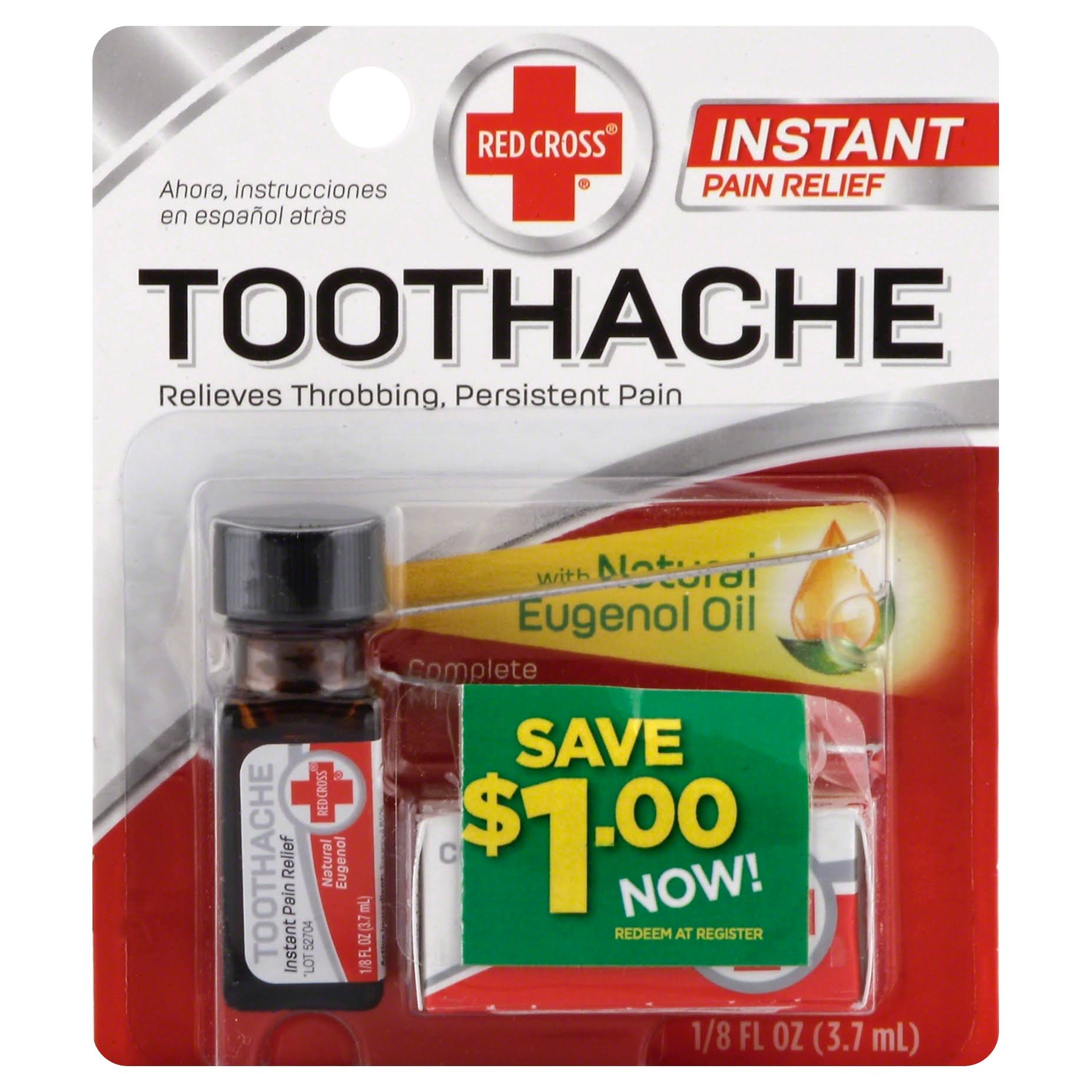 Red Cross Toothache Complete Medication Kit - 3.7ml
