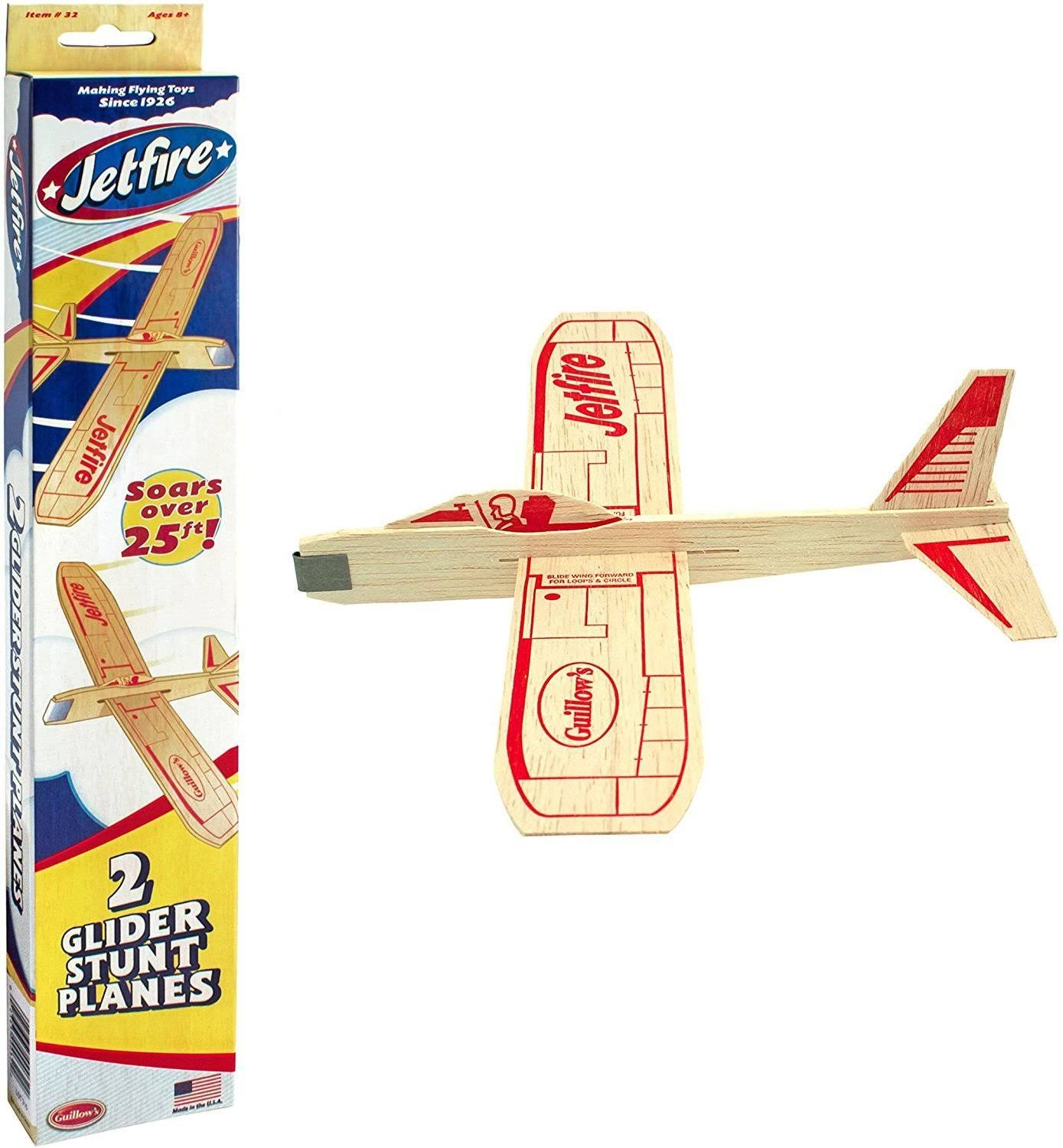 Jetfire Gliders Balsa Wood Planes Twin Pack