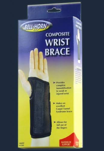 Bell Horn Composite Wrist Brace - Black, Medium, Left