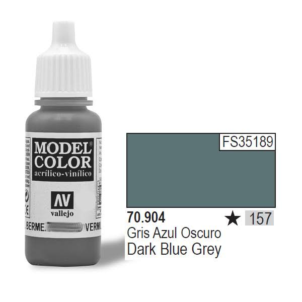 Vallejo Paint Model Color Acrylic Paint - 17ml, Dark Blue Grey