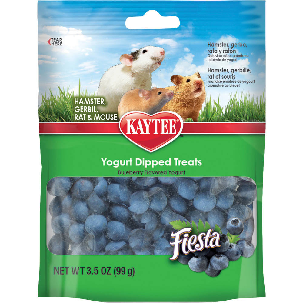 Kaytee Fiesta Blueberry Flavored Yogurt Dipped Hamster & Gerbil Treats