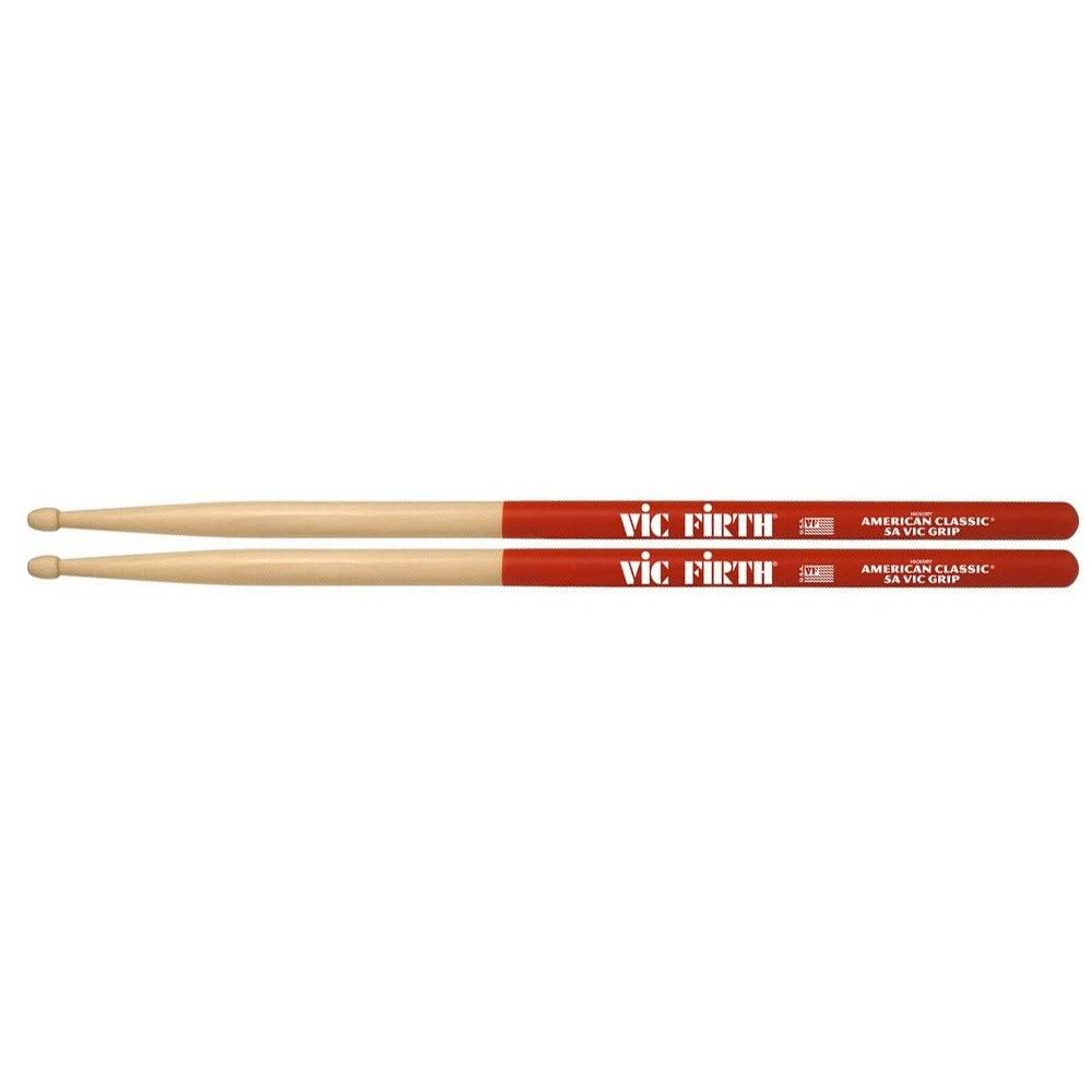Vic Firth American Classic Vic Grip Hickory Drumsticks - 5A Wood