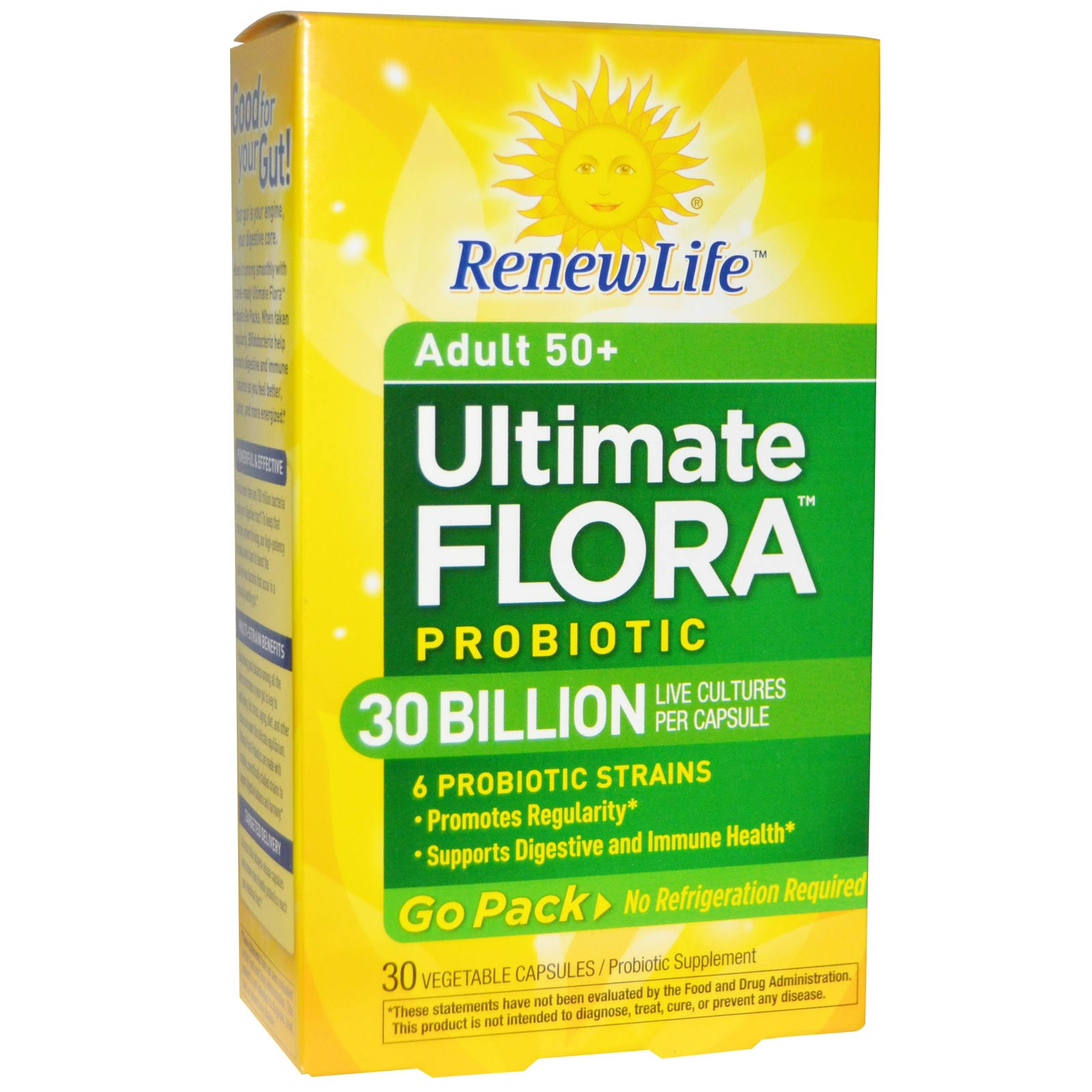 Renew Life Ultimate Flora Rts Senior Care Probiotic - 30 Vegetable Capsules