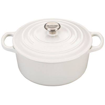 Le Creuset 3.5-Quart Signature Round Dutch Oven - White