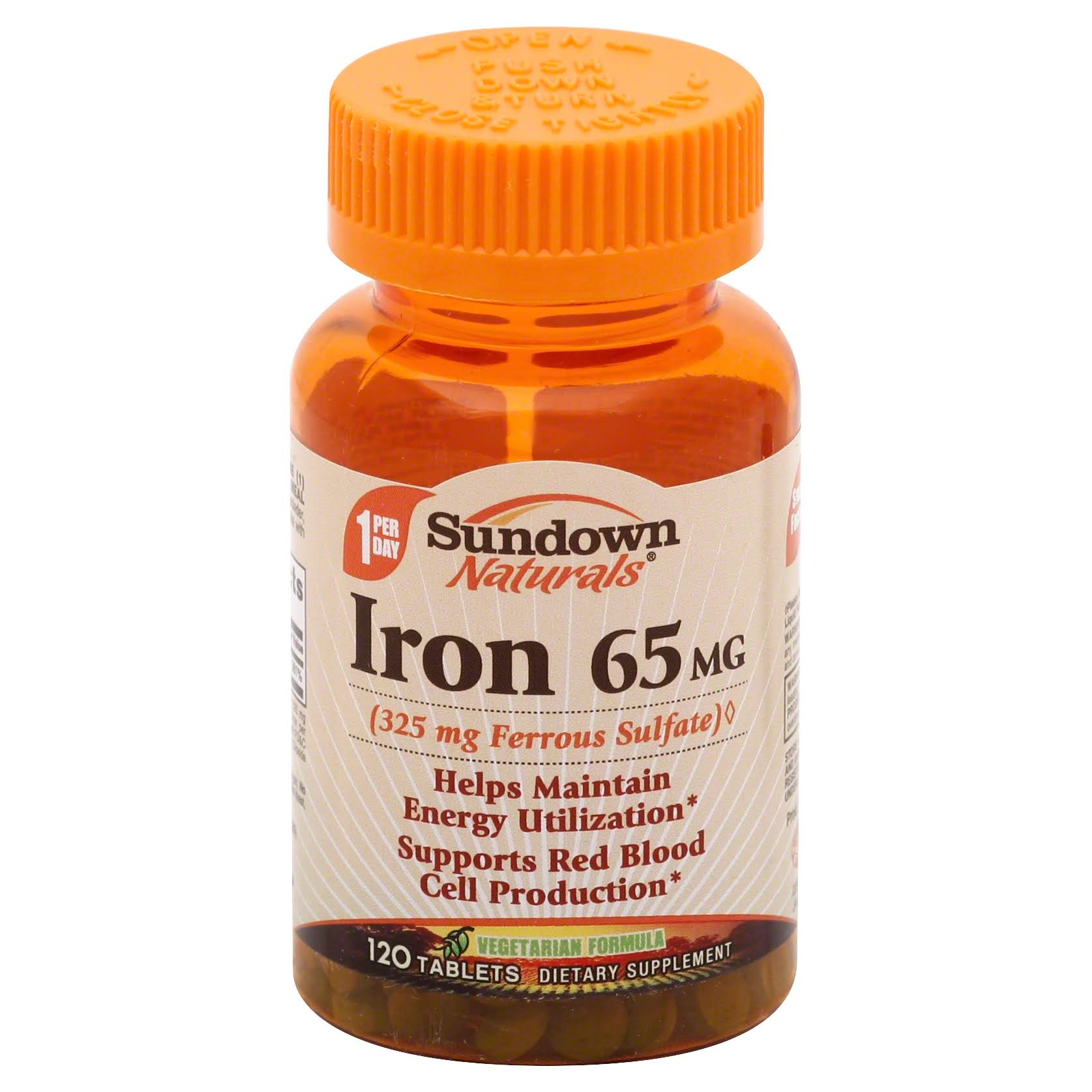 Sundown Naturals Iron Ferrous Sulfate - 65 mg, 120 tablets