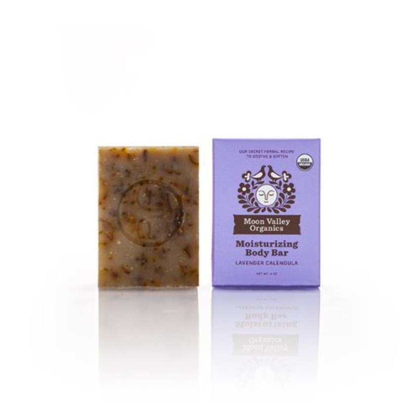 Moon Valley Organics Moisturizing Body Bar - Lavander Calendula