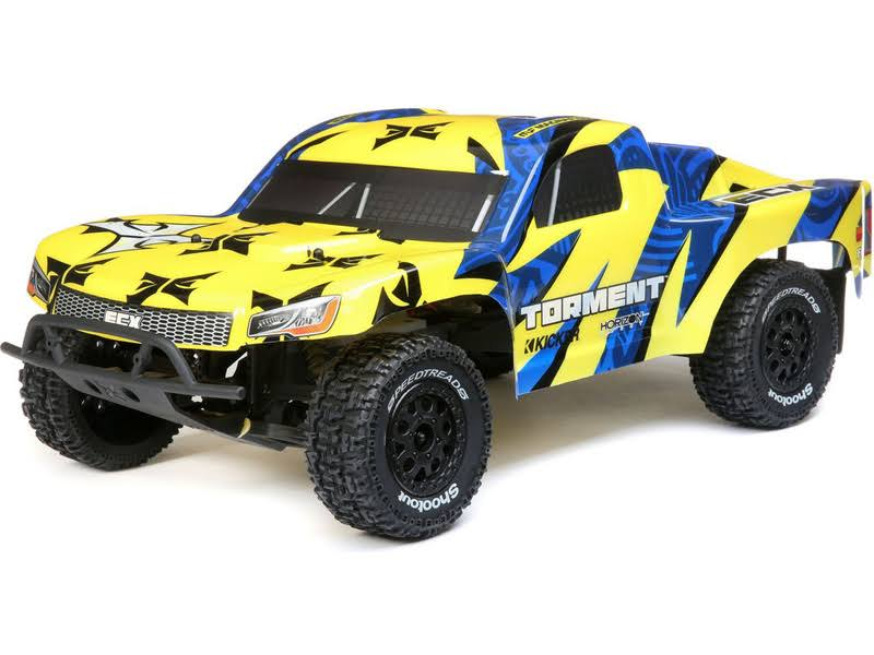 ECX - 1/10 2WD Torment SCT: Yellow/Blue RTR - 03433T1