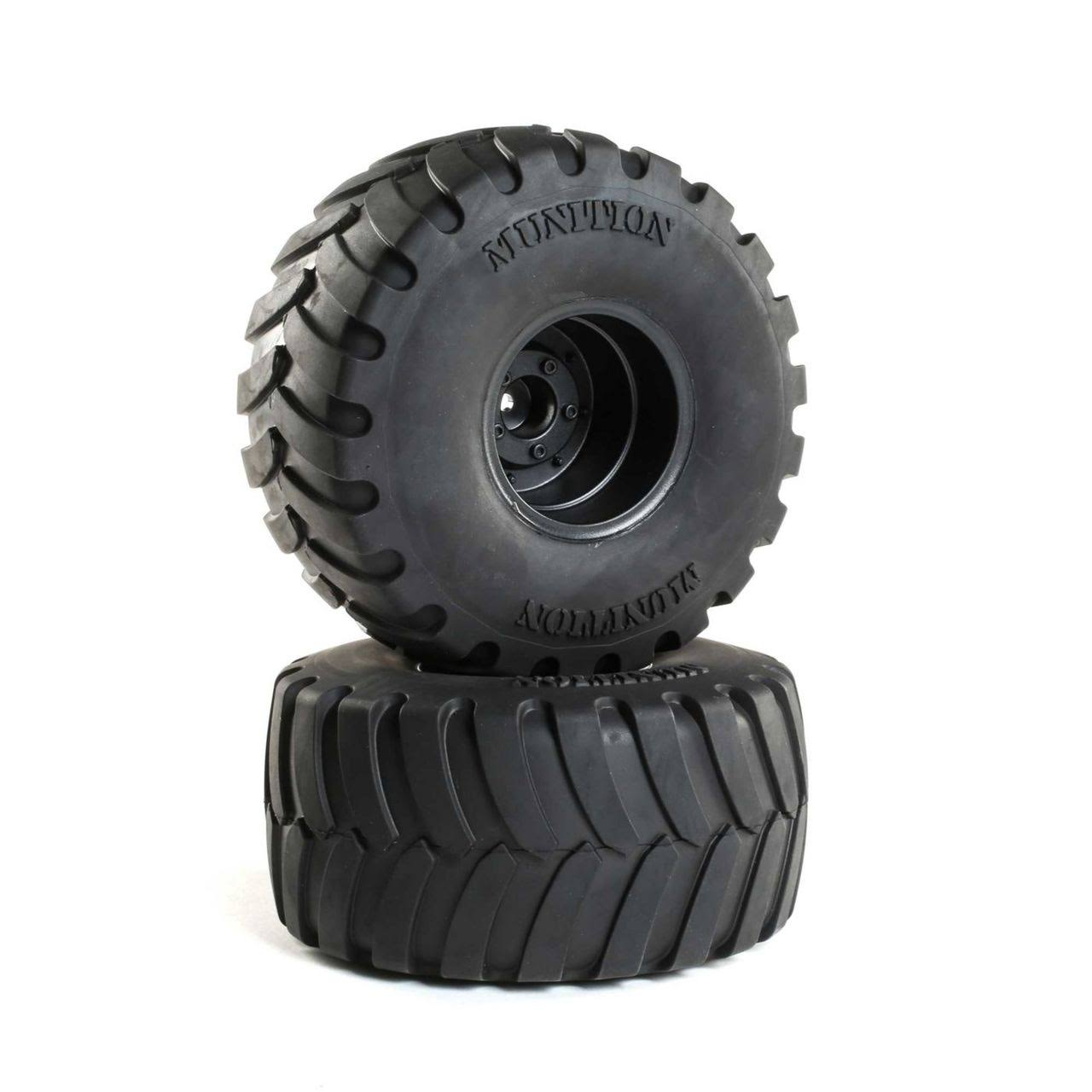 "Duratrax Munition MT 2.2"" Mounted Tires, Black (2) DTXC2903"