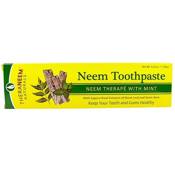 Theraneem Naturals Neem Mint Toothpaste - 4.23 oz tube
