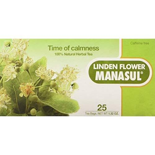 Manasul Natural Herb Tea - Linden Flower, 25 Bags
