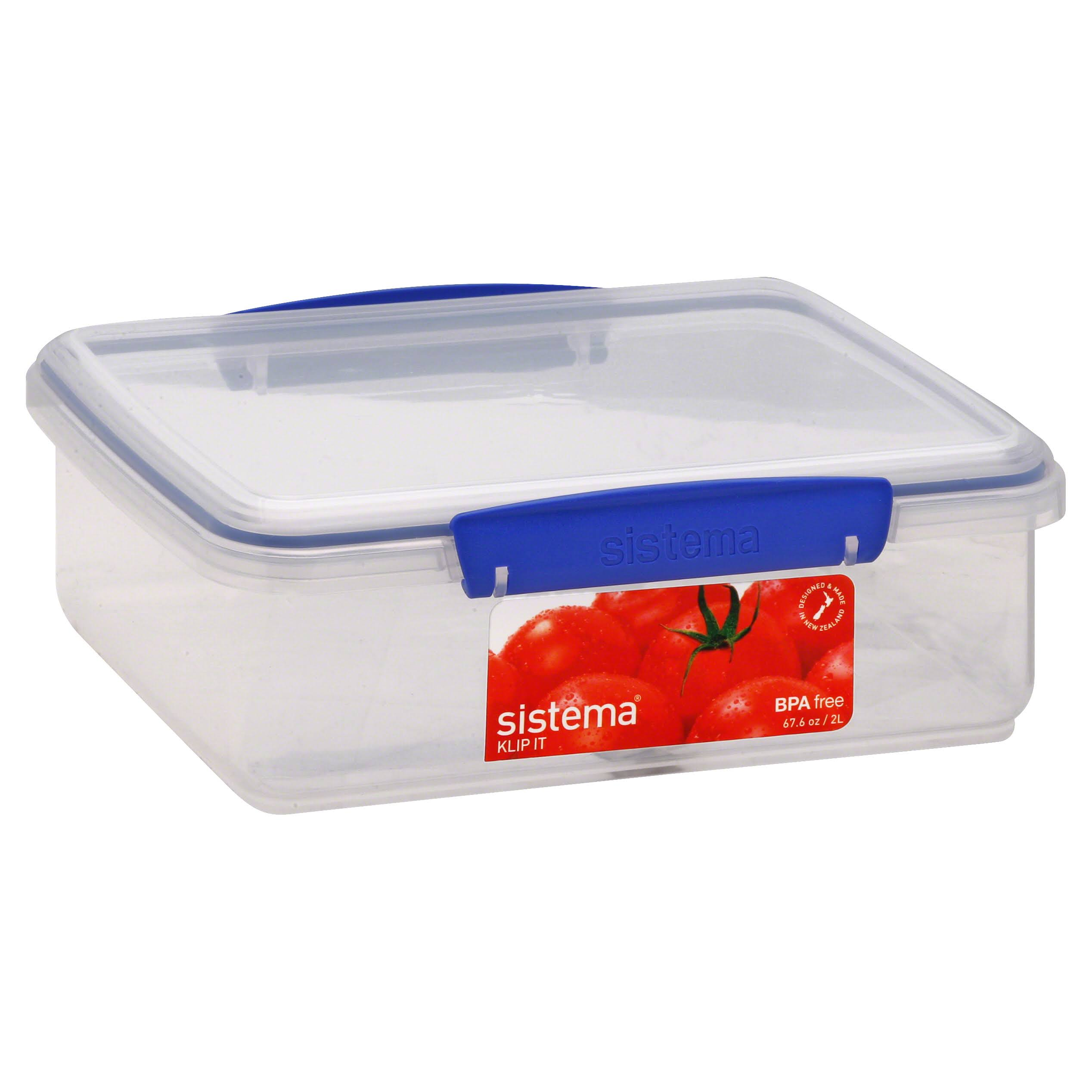 Sistema Klip It Rectangular Food Container - Clear, 2l