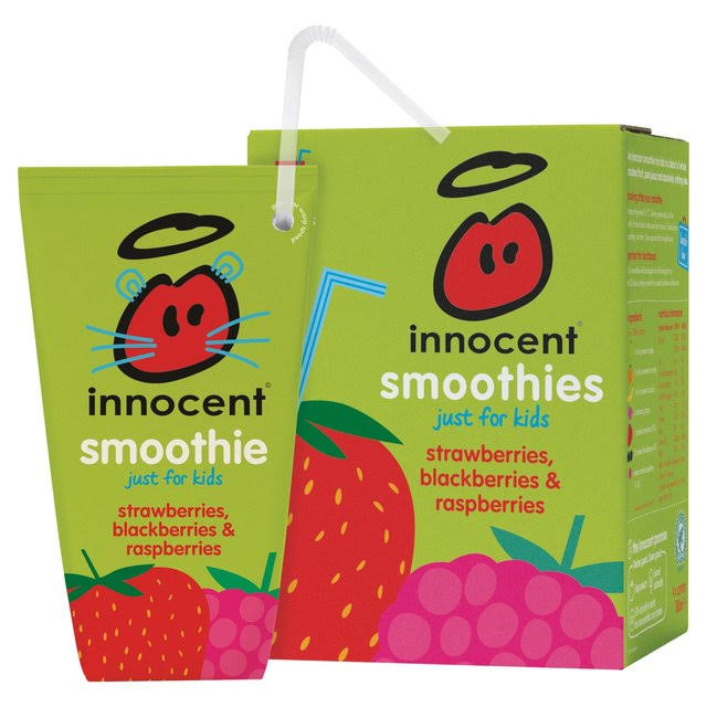 Innocent Kids Smoothie - Strawberry, Blackberry and Raspberry, 180ml