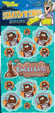 Dr Stinkys Chocolate Scratch-N-Sniff Stickers 2 Sheets 4 x 6 3 26