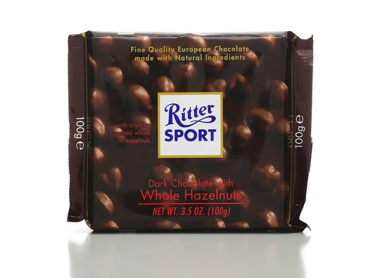 Ritter Sport - Dark Chocolate With Whole Hazelnuts, 100g