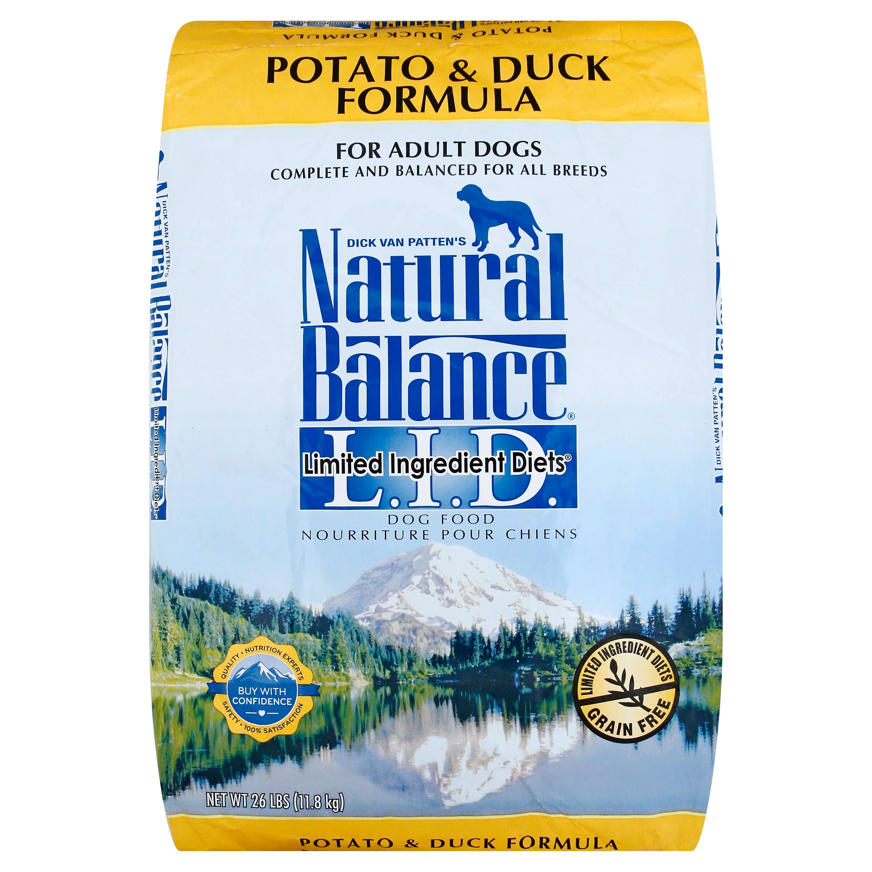 Dick Van Patten's Natural Balance LID Dry Dog Food - Potato & Duck, 26lb