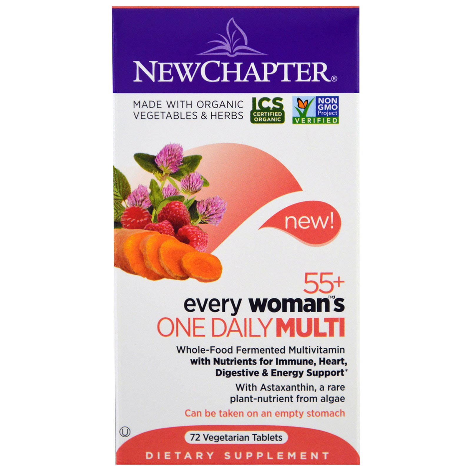 New Chapter Multi, One Daily, Every Woman's 55+, Vegetarian Tablets - 72 tablets