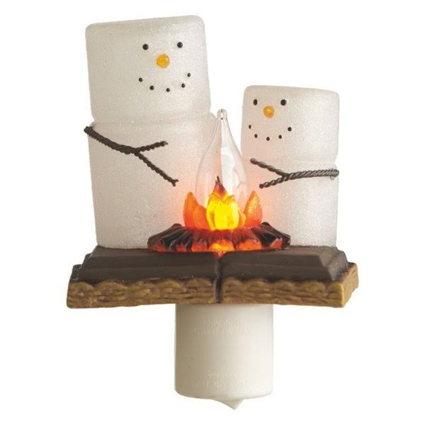 "Midwest Smores Campfire Night Light - 6.1"" x 4.1"" x 3.4"""