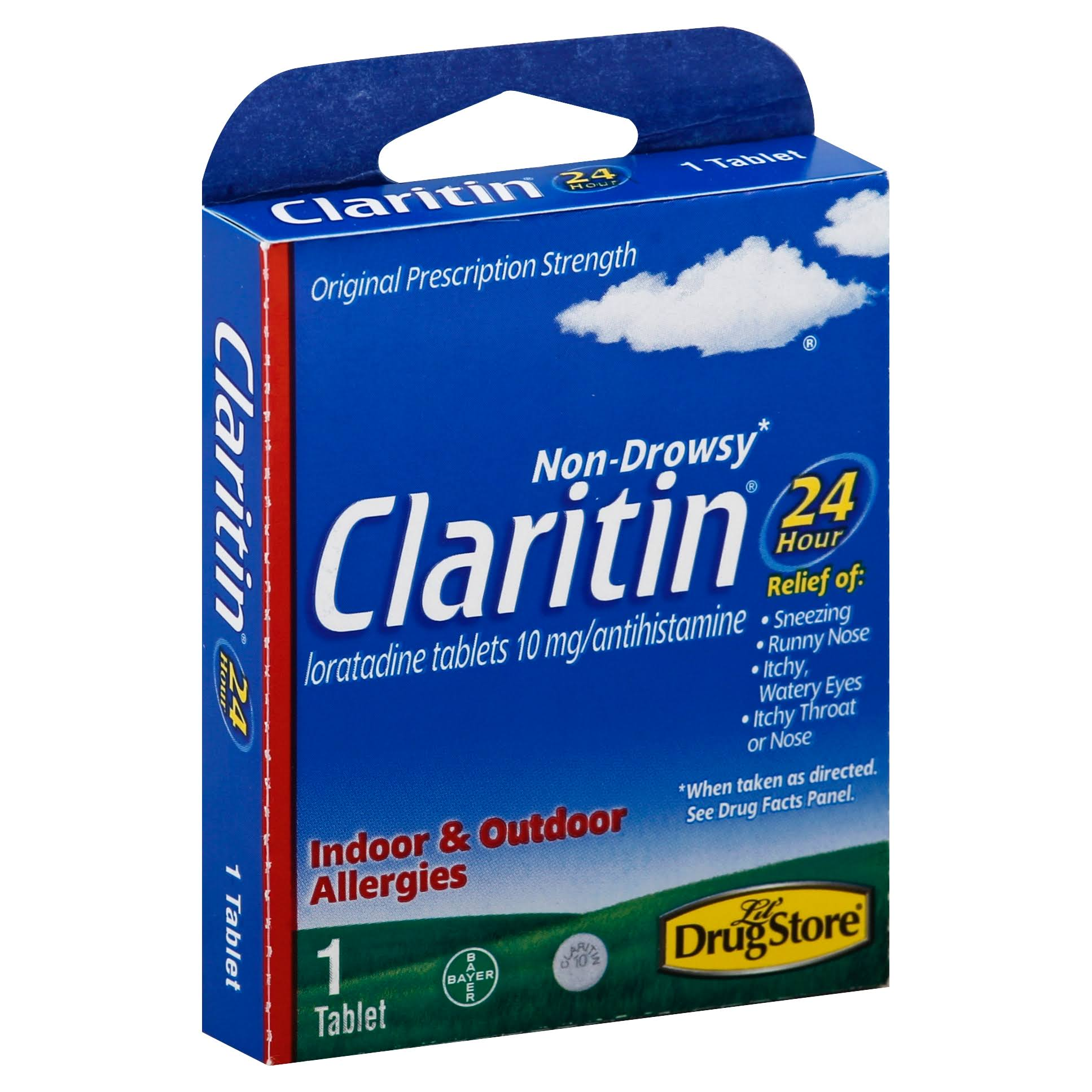 Lil Drugstore Products Claritin Non-Drowsy Antihistamine - 1 Tablet