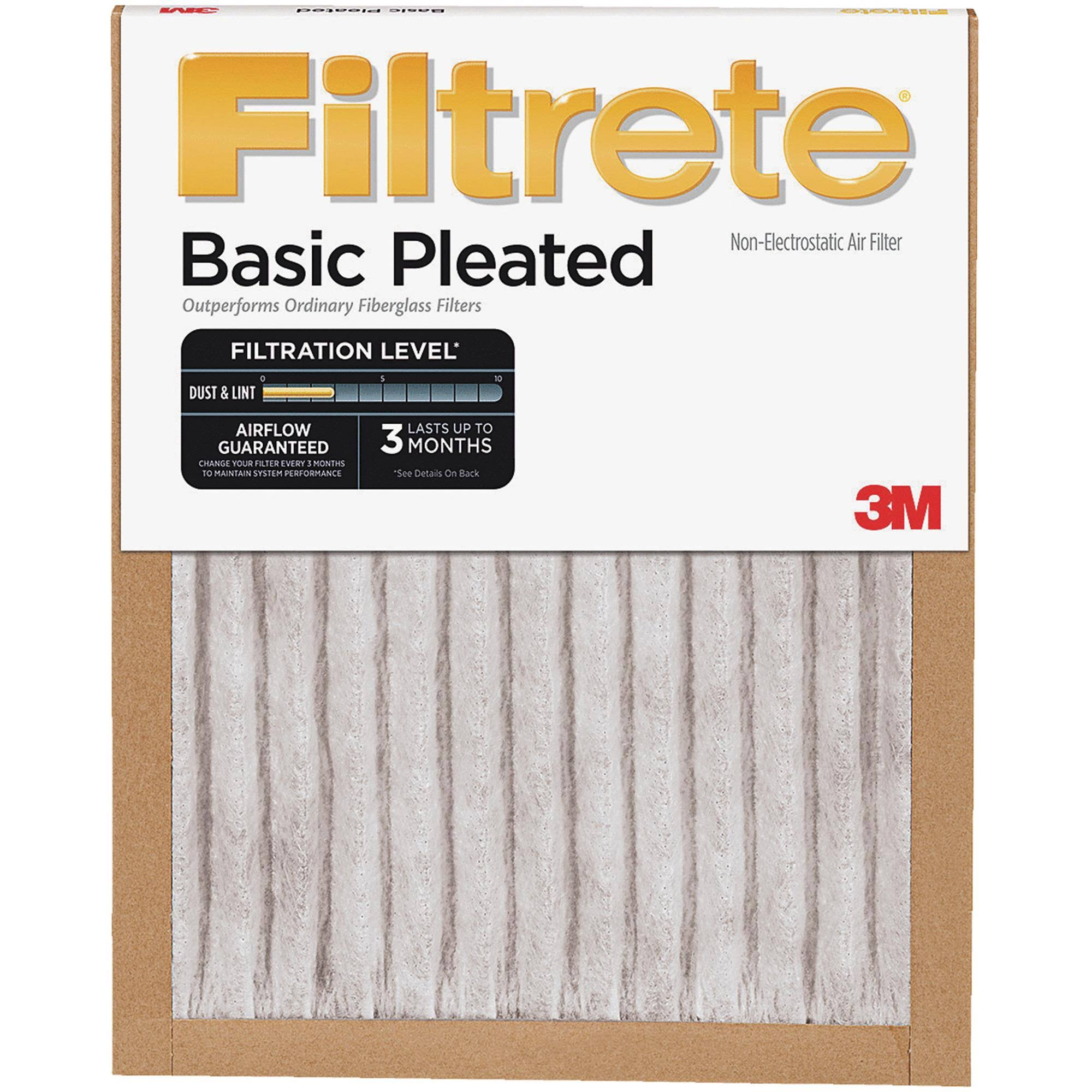 "3M FBA17DC-6 18"" x 18"" x 1"" Highland Basic Pleated Air Filter"