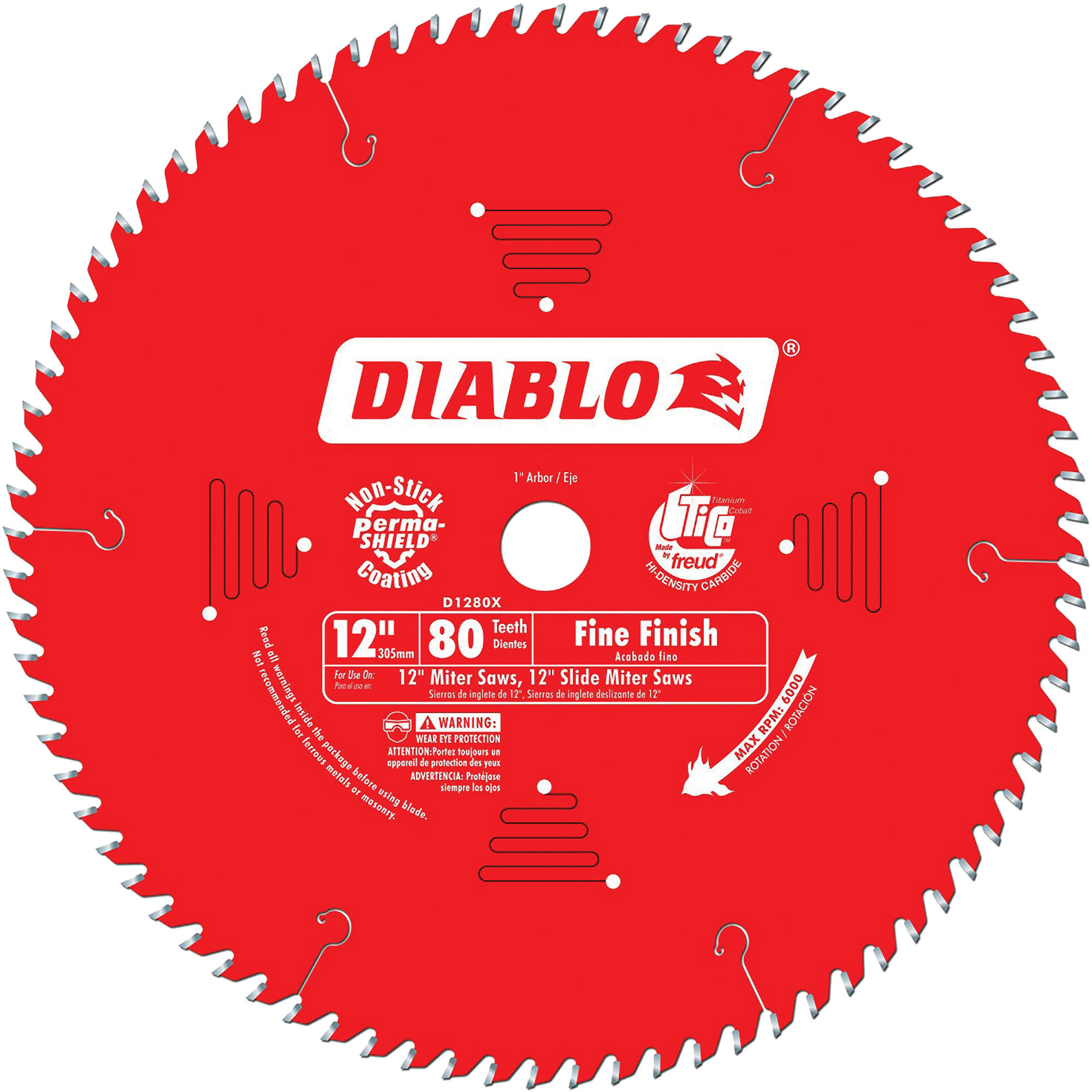 "Diablo Finishing Saw Blade - 12"", 80 Tooth"